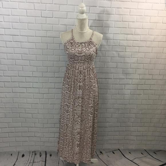 Cynthia Rowley Dresses & Skirts - Snake Print Empire Waist Maxi Dress w Keyholes